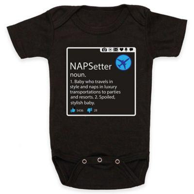 """Posh365 Size 3-6M """"NAPSetter"""" Bodysuit in Black"""