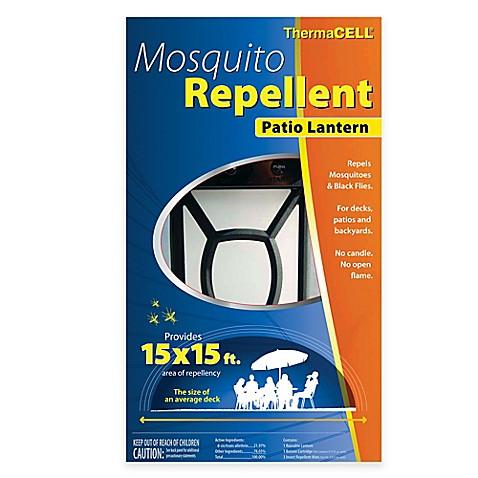 theramcell mosquito repellent patio lantern in black bed bath beyond. Black Bedroom Furniture Sets. Home Design Ideas