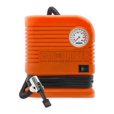 Car and Driver 300 PSI Portable Air Compressor in Orange