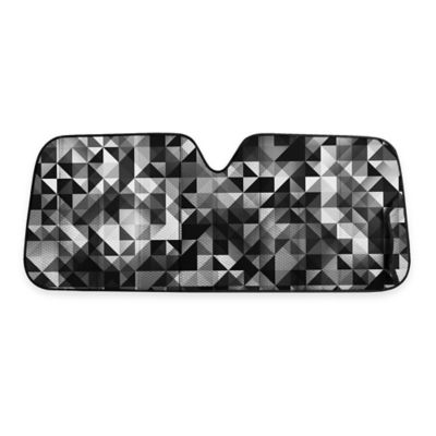 Car and Driver Geometric Pattern Standard Sunshade