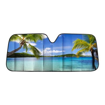 Car and Driver Tropical Pattern Standard Sunshade