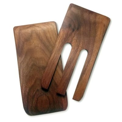 Snow River Walnut Finish Salad Hands