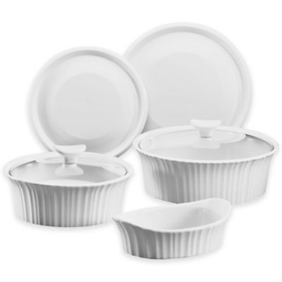 CorningWare® French White® 7-Piece Bakeware Set