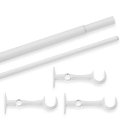 Cambria® Premier Window Curtain Double Extension Rod in Satin White
