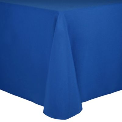 Spun Polyester 90-Inch x 132-Inch Tablecloth in White
