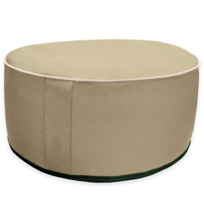 Splash 'n Dash Inflatable Pouf Ottoman in Natural