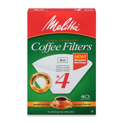 Melitta® Super Premium 40-Count #4 Cone Coffee Filters with Measure Markings