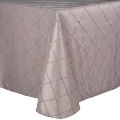 Bombay Diamond-Stitched Pintuck 90-Inch x 132-Inch Oblong Tablecloth in Espresso