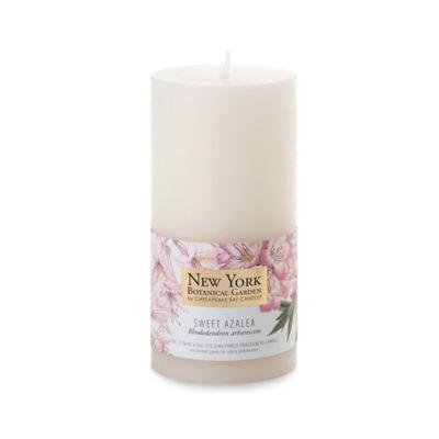 The New York Botanical Garden Sweet Azalea Pillar Candles (Set of 2)