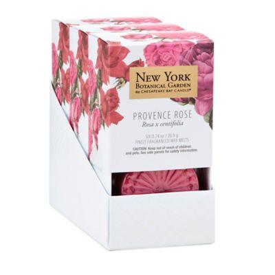 The New York Botanical Garden Provence Rose 6-Piece Wax Melts (Set of 3)