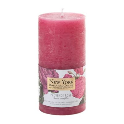 Chesapeake Bay Candle New York Botanical Garden Provence Rose Pillar Candles (Set of 2)