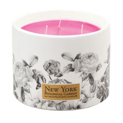 The New York Botanical Garden Provence Rose 3-Wick Ceramic Candle