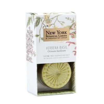 The New York Botanical Garden Verbena Basil 6-Piece Wax Melts (Set of 3)
