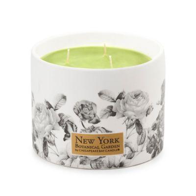 The New York Botanical Garden Verbena Basil 3-Wick Ceramic Candle