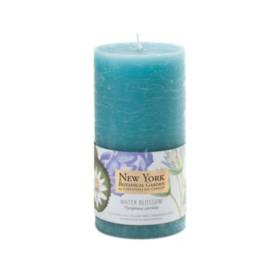 The New York Botanical Garden Water Blossom Pillar Candles (Set of 2)