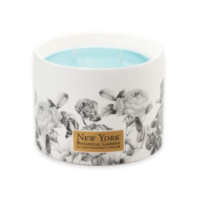 The New York Botanical Garden Water Blossom 3-Wick Ceramic Candle