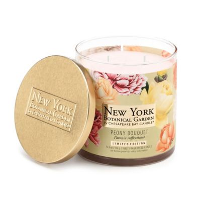 The New York Botanical Garden Peony Bouquet 2-Wick Jar Candle