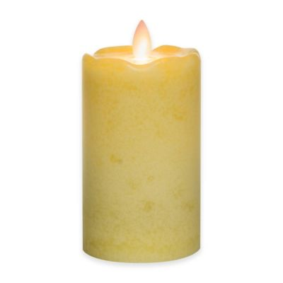Mirage® 5-Inch Gardens of Rome Flickering Flame LED Pillar Candle