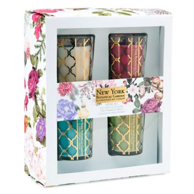 The New York Botanical Garden Gold Trellis Votive Candle (Set of 4)