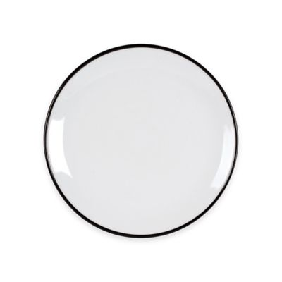 Everyday White® by Fitz and Floyd® Black Rim Dinner Plate