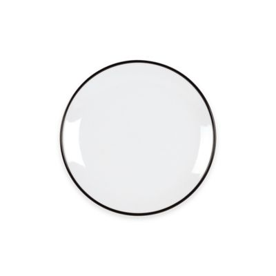 Everyday White® Black Rim Salad Plate