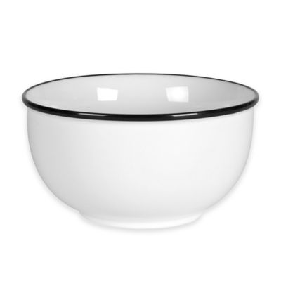 Everyday White® Black Rim Soup Bowl
