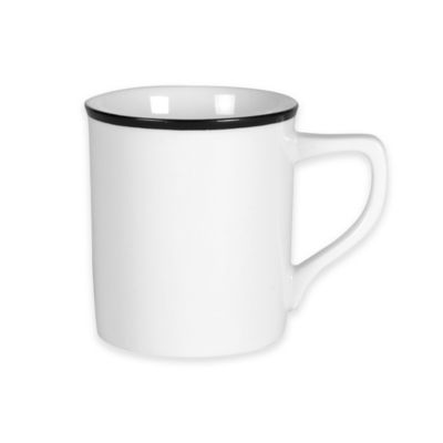 Everyday White® Black Rim Mug