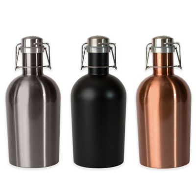 ASOBU Stainless Steel Beer Growler in Black