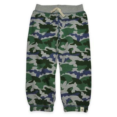Burt's Bees Baby® Size 4T Organic Cotton French Terry Camo Pant in Green