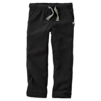 Carter's® Size 9M Fleece Sweat Pant in Black