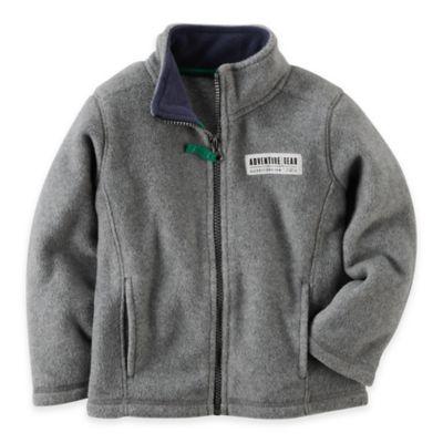 Carter's® Size 9M Microfleece Jacket in Grey