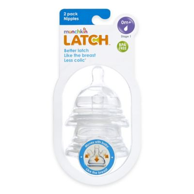 Munchkin® LATCH™ 2-Pack Stage 1 Slow Flow Nipples