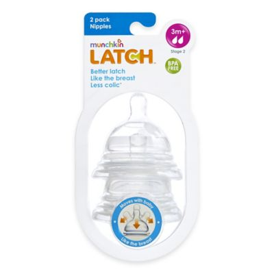 Munchkin® LATCH™ 2-Pack Stage 2 Medium Flow Nipples