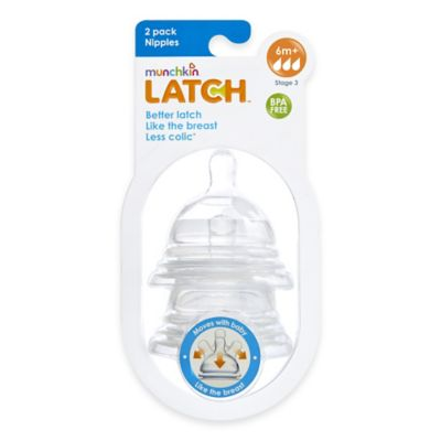 Munchkin® LATCH™ 2-Pack Stage 3 Fast Flow Nipples