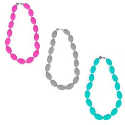 Itzy Ritzy® Teething Happens™ Pebble Bead Silicone Teething Necklace in Grey