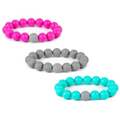 Itzy Ritzy® Teething Happens™ Baby Teething Bead Bracelet in Pink
