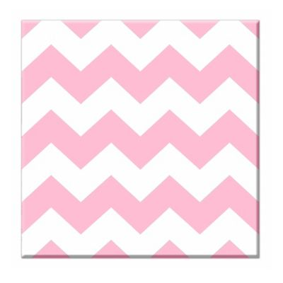 RoomMates Chevron Canvas Wall Art Set in Pink