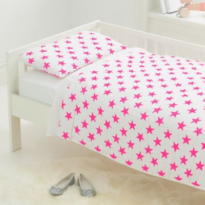 aden + anais® Fluro Toddler Bedding Set in Pink