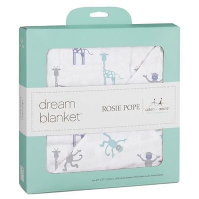 Baby Blankets > Rosie Pope® and aden + anais® 100% Cotton Muslin Dream Blanket™ in Monkey Print