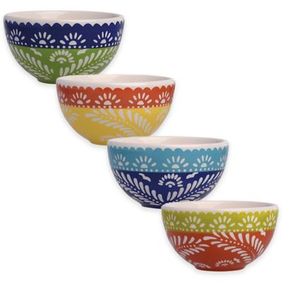 Boston International Viva La Fiesta 4-piece Bowl Set in Multi