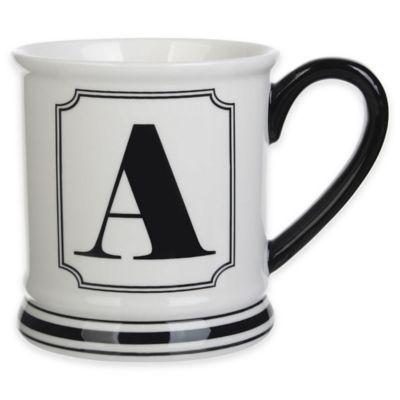 """Formations Block Letter """"A"""" Monogram Mug"""