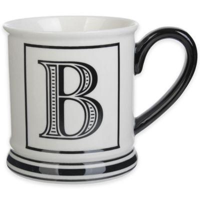 "Formations Block Letter ""B"" Monogram Mug"