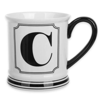 "Formations Block Letter ""C"" Monogram Mug"