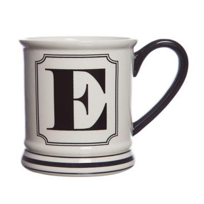 """Formations Block Letter """"E"""" Monogram Mug"""