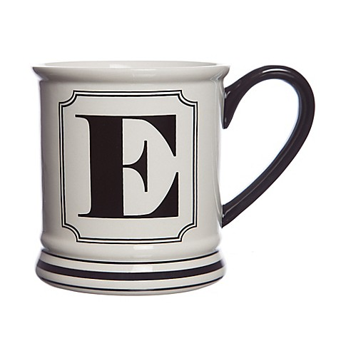 Buy formations block letter quotequot monogram mug from bed bath for Letter e mug