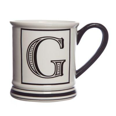 "Formations Block Letter ""G"" Monogram Mug"