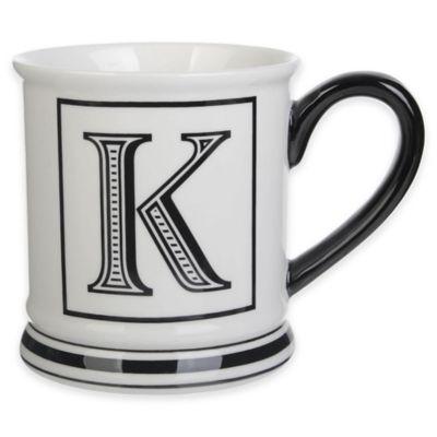 "Formations Block Letter ""K"" Monogram Mug"