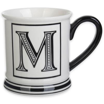 "Formations Block Letter ""M"" Monogram Mug"