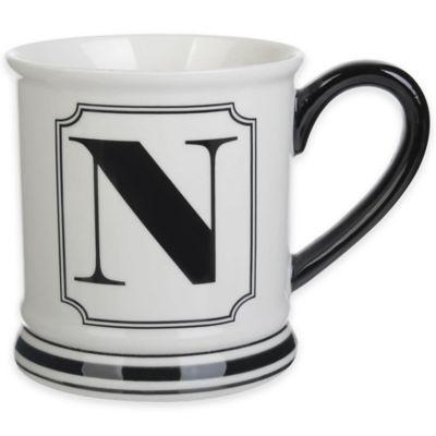 "Formations Block Letter ""N"" Monogram Mug"