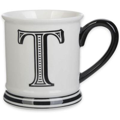 "Formations Block Letter ""T"" Monogram Mug"